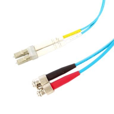 Picture of LC - ST OM3 Duplex Fibre Optic Cable (1M)